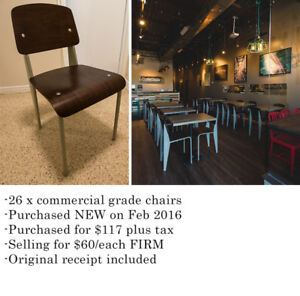 26 x Commercial grade chairs. PRICE DROP!!!