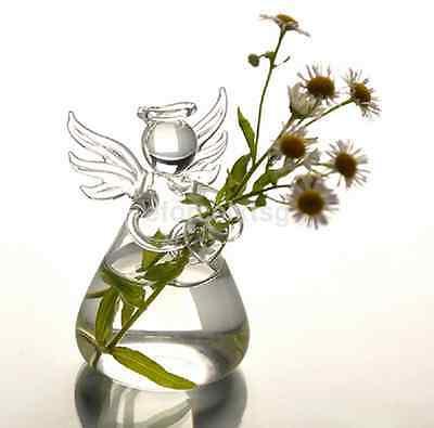 Angels Vases - Mini Angel Flower Hanging Glass Vase Planter Vase Plants Tank Terrarium Bottle S