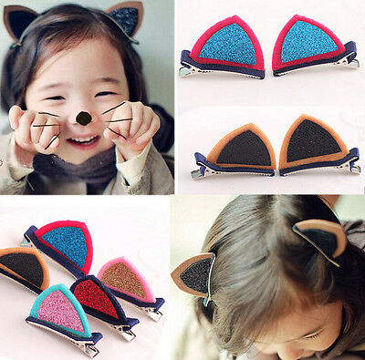 Cute Hairpins Hair Clips Pin Cosplay Ears Costume for Girls Cat Ear Accessories