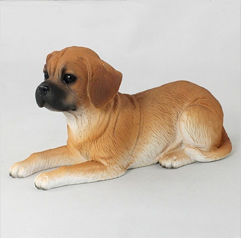 Puggle Figurine Hand Painted Collectible Statue