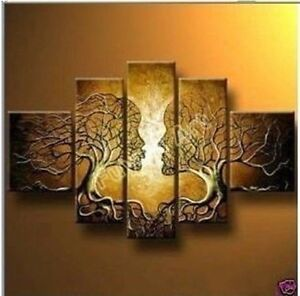 No-frame-5pc-Huge-WALL-Modern-Abstract-on-Canvas-decorative-Oil-Painting-Art