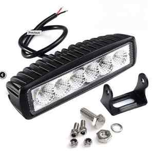 6inch 18W LED Work Light Bar 4WD Spot Beam Offroad Driving Fog L