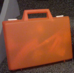 Orange toy storage container carrying breifcase container London Ontario image 1