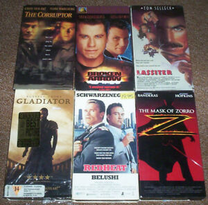 6 VHS(Video Cassette Tapes)ACTION MOVIES