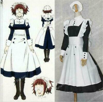 Black Butler Mey Rin Dienstmädchen Kleid Cosplay Kostüm Nach Maß Halloween - Black Butler Mey Rin Kostüm