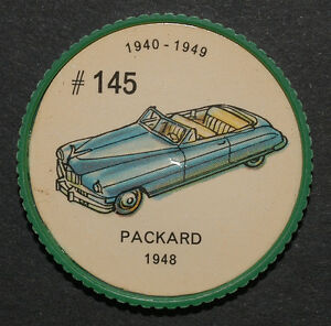 Jeton jello #145 / jello token / voiture / Packard 1948
