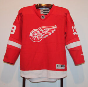 REEBOK PAVEL DATSYUK DETROIT RED WINGS HOCKEY JERSEY YOUTH L/XL