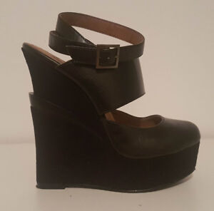 Souliers noirs Michael Antonio Glamour, Sexy, Wedge,Talons Hauts