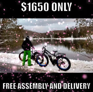 Christmas SALE is ON! Electric Fat Tire bike! WINTER READY!