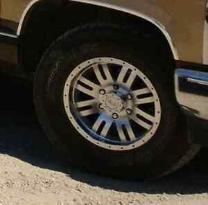 """16"""" Core Raceing mag wheels.  With Hercules tires."""