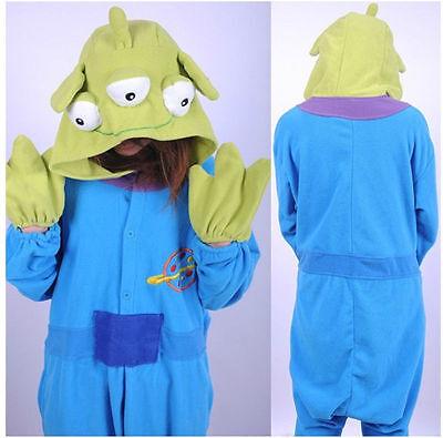 *Toy Story Aliens Adult kigurumi Pajamas Unisex  Animal Onesiii Cosplay Costume#