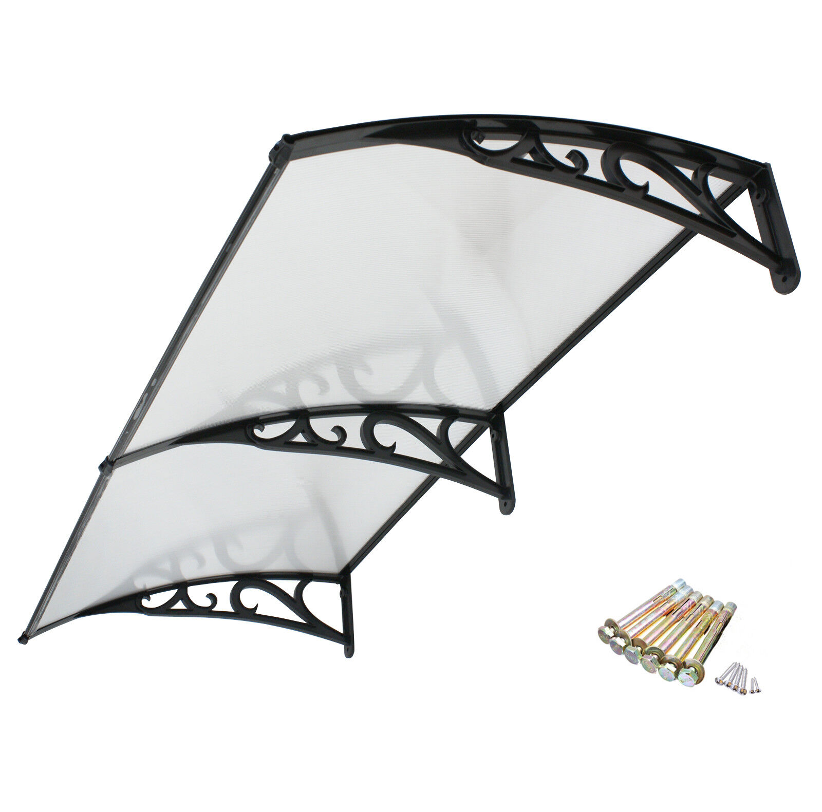 Outdoor Clear Seamless Awning Door Window Polycarbonate Cover Overhead Awning & Canopy Parts