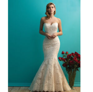 Allure Lace Wedding Dress - champagne