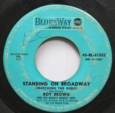 Blues 45 Roy Brown   Standing On Broadway   New Orleans Women On Abc Records