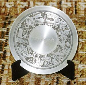Malaysia Penang 97 Percent Pewter Collectible 3 1/2 inch Diamete