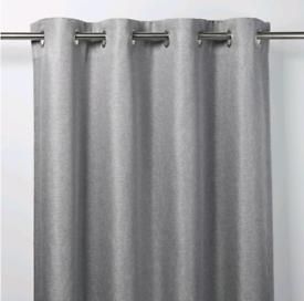 John Lewis & Partners Silver Grey Eyelet Curtains | RRP £120