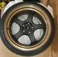 18x9.5 Rota D2-EX wheels and tires