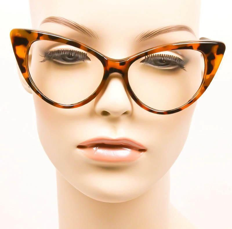 8b7e5744a8e4 ... Sexy Attitude NIKITA Fashion Cat Eye Glasses Celebrity Clear Lens Hot  Frames L ...