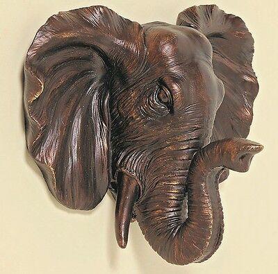 Wand Objekt Elefant Elefantenkopf  Afrika Figur NEU