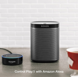SONOS PLAY1- ECHO DOT: WIRELESS VOICE CONTROL STREAM MUSIC, 2 ea