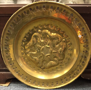 LARGE VINTAGE BRASS TRAY WALL DECOR COLLECTIBLES MISSISSAUGA