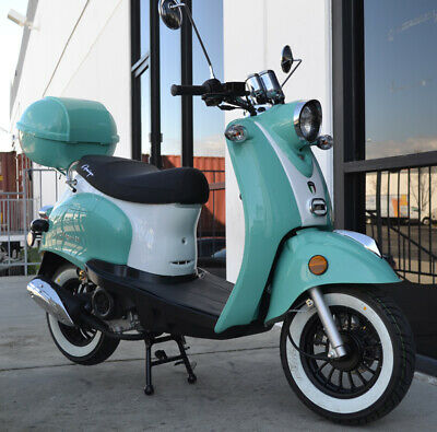 NEW 2020 MAGARI 50 Vintage 49cc Gas Scooter Retro Moped ABS Remote Start & Alarm