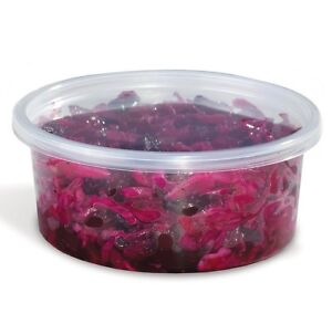8-oz-Plastic-Deli-Food-Container-and-Lids-50-Sets-Round-Clear-Cups-REF-8CL50