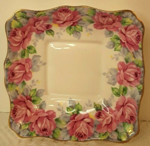 Royal Standard Fine Bone China Trinket Dish Rose of Sharon England EUC Pink Rose
