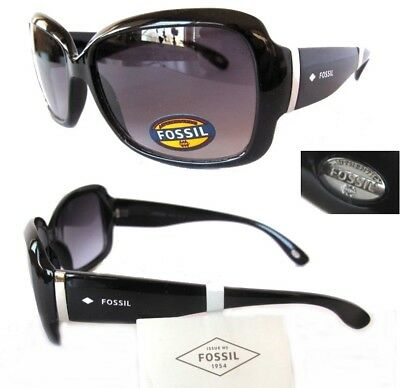 New Womens Sunglasses Fossil FW2 Black/Purple- tiny defect