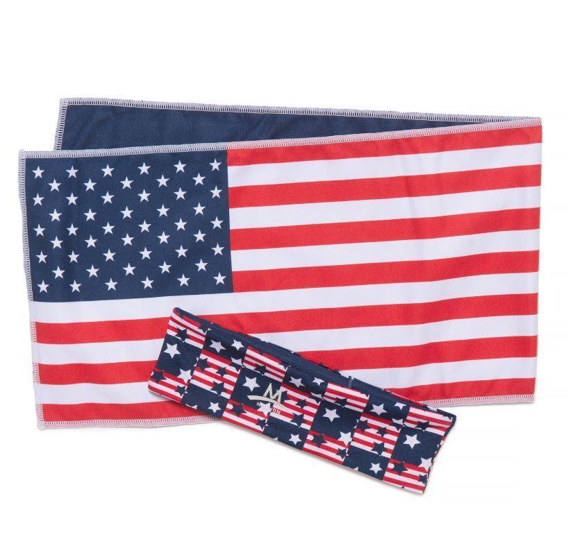 Mission Cooling Gym Towel Headband USA Flag Enduracool Patri
