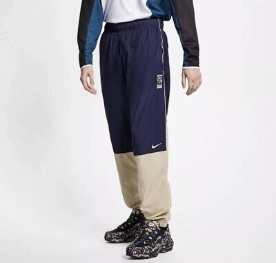 Nike x Cav Empt Track Pants Navy Blue Beige AR1398-416 Mens X-Large
