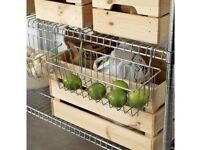 2x Ikea Omar basket, brand new, never used 003.346.64