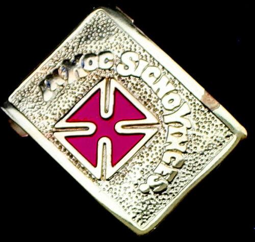 GRAND COMMANDER MASONIC IN HOC SIGNO VINCES KNIGHTS TEMPLAR BELT RED BUCKLE GOLD