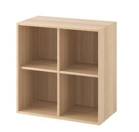 EKET Cabinet w/ 4 compartments, white stained oak 70x35x70 cm WAS £40 IKEA Glasgow #circularhub