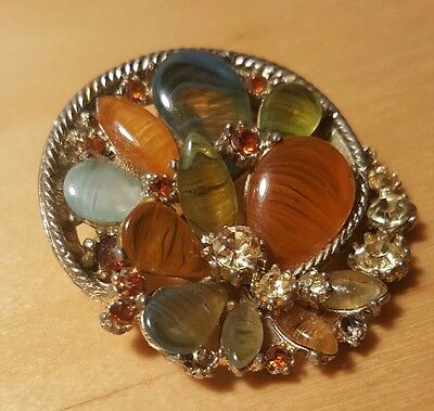 Vintage 1950s Exquisite Brooch Made in England by W.A.P.Watson Ltd.