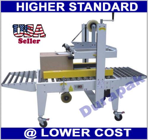 Carton Box Case Tape Sealer Semi Automatic Side Belt Machine Packing Sealing