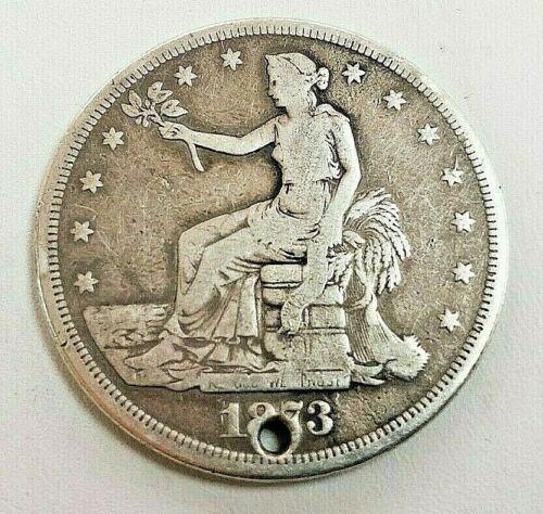 1873 CC Silver Trade Dollar, US Coins