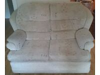 Beige 3-piece suite (2-seater & 2 chairs) - COLLECTION ONLY