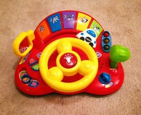 Musical and lights steering wheel