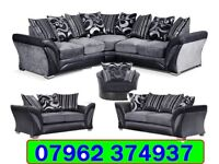 BRAND CORNER OR 3+2 SEATER FABRIC SOFA