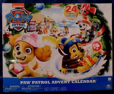 Nickelodeon PAW PATROL ADVENT CALENDAR NEW!! with 24 TOYS 2018 Never Opened