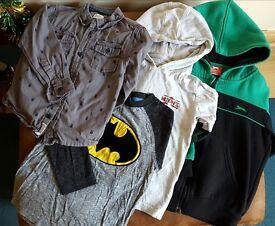 Boys age 3-4 years bundle of tops - hoodie, shirts, t shirts.