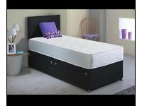 Brand-New Single Size Divan Bed And Quality Mattress