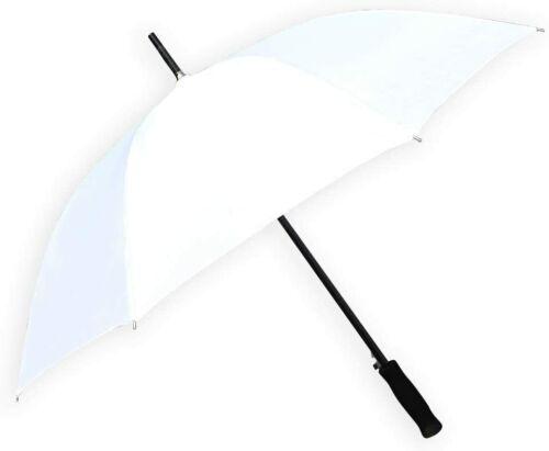 "Barton Outdoors Rain Umbrella - White - 48"" Across - Rip-Resistant Polyester"