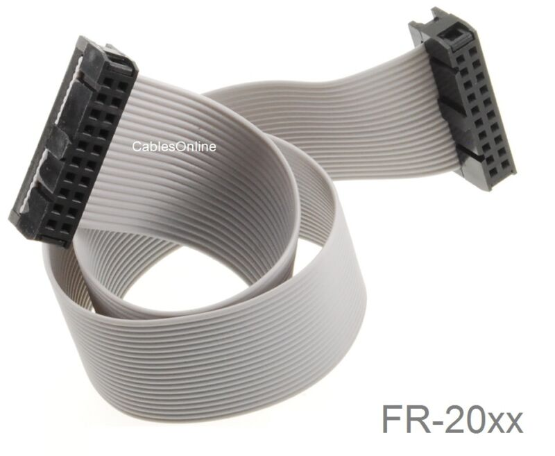 20-Pin (2x10) Female to Female 2.54mm-Pitch 20-wire IDC Flat Ribbon Cable