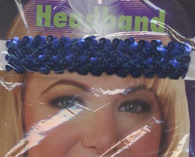 1920's Gangster Moll Flapper Girl Gatsby Fancy Dress Headband Various Colours (1920 Girl Gangster)