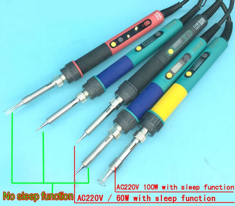 LCD Digital Adjustable Temperature sleep function Soldering Welding Iron Tool
