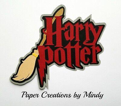 CRAFTECAFE MINDY HARRY POTTER FANTASY premade paper piecing scrapbook TITLE