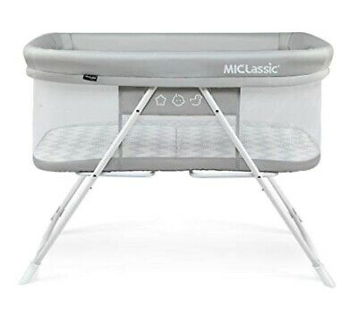 MiClassic Baby Bassinet 2 In 1 Stationary & Rock Mode, Grey