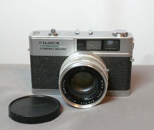 Fujica Compact Deluxe Rangefinder Camera,Working, needs advance lever